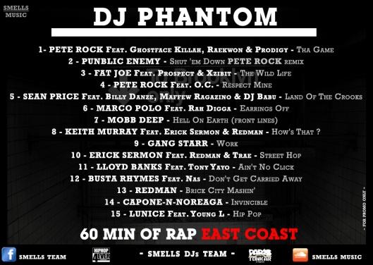 DJ PHANTOM - 60 MIN OF RAP EAST COAST tracks