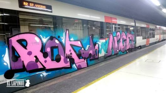 Train à Barcelone