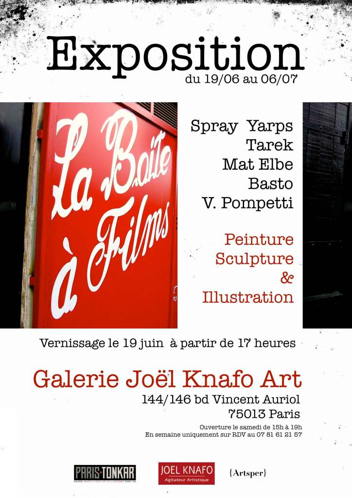 """Exposition """"La boite à films"""" à la Joel Knafo Gallery"""