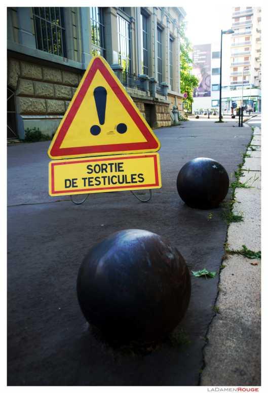 Sortie de testicules
