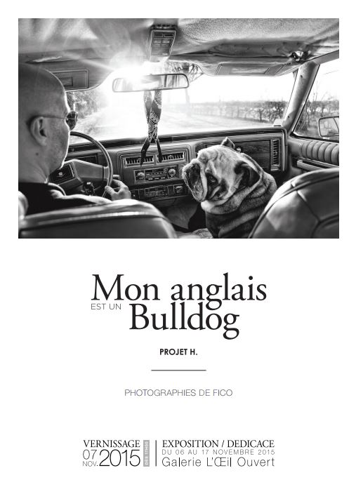 Flyer Mon Anglais est un Bulldog - Projet H. Fico-Recto