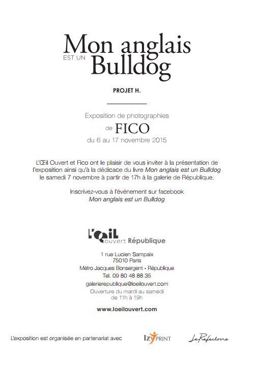 Flyer Mon Anglais est un Bulldog - Projet H. Fico-Verso