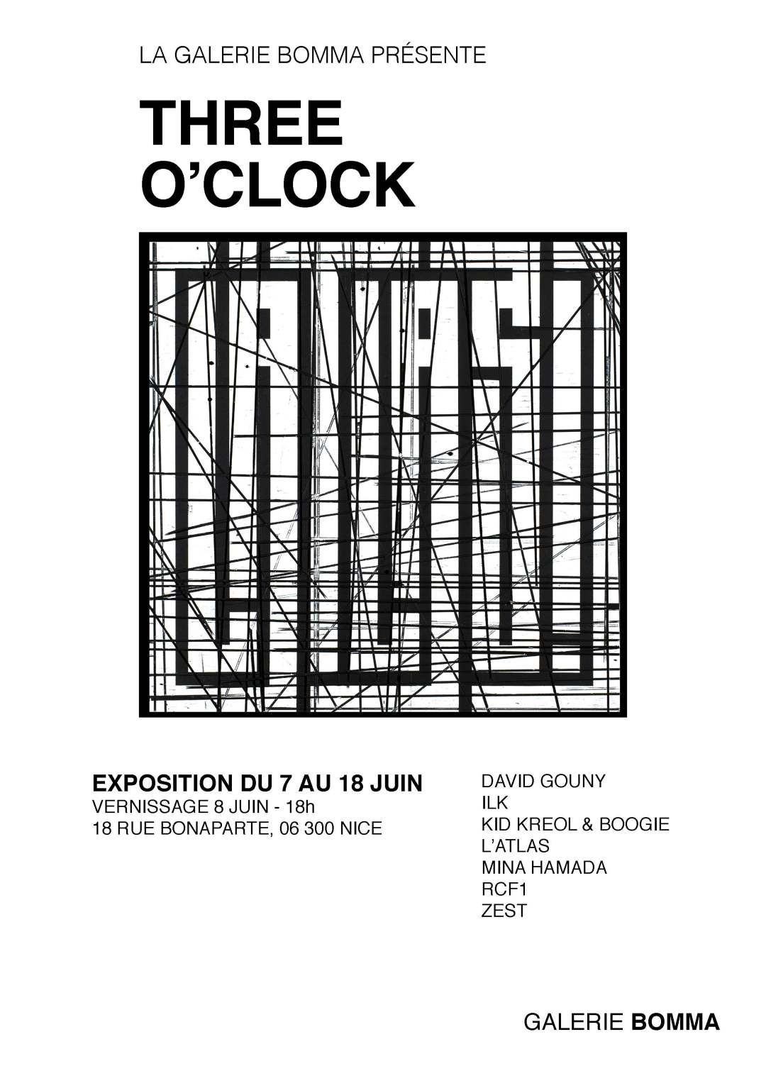 Affiche Three O'Clock - L'Atlas