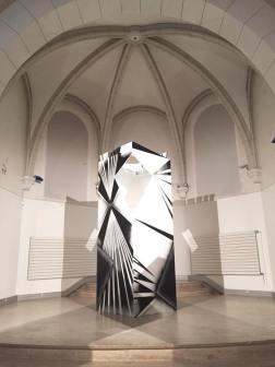 CROSS - 2017 - Sculpture bois - peinture ne bombe et acrylique 300x100x100cms - 2017