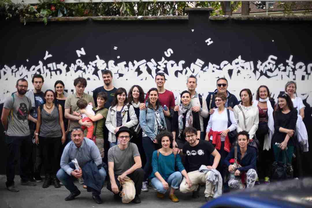 A moment of the walk Street Art Tourino Pic -Gabriella di Muro