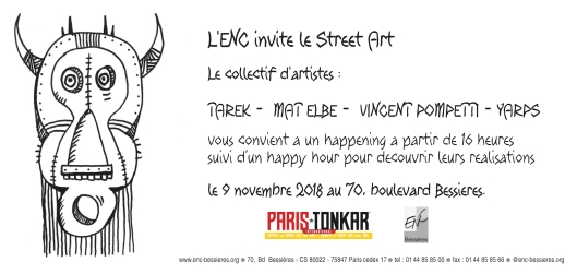 ENC invitation street art Tarek