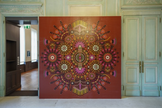 Works of the artist Koralie at the exhibition Kaleidoscope in the Bernard Magrez Cultural Institute of Bordeaux. Bordeaux, November 13th, 2018. Oeuvres de l'artiste Koralie dans l'exposition Kaleidoscope à l'Institut Culturel Bernard Magrez de Bordeaux. Bordeaux, 13 novembre 2018.