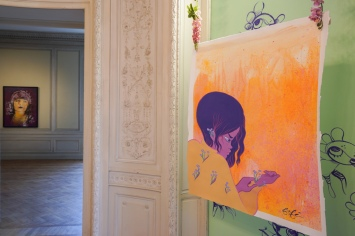 Works of the artist Fafie at the exhibition Kaleidoscope in the Bernard Magrez Cultural Institute of Bordeaux. Bordeaux, November 13th, 2018. Oeuvres de l'artiste Fafie dans l'exposition Kaleidoscope à l'Institut Culturel Bernard Magrez de Bordeaux. Bordeaux, 13 novembre 2018.