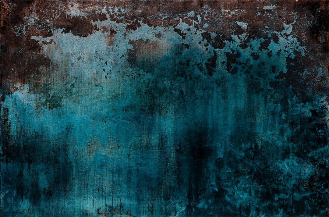 Abysses, 2019, technique mixte sur toile, 54 x 81 cm