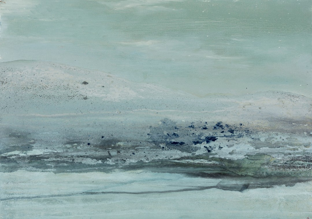 Sérénité, 2018, technique mixte sur toile, 46 x 65 cm